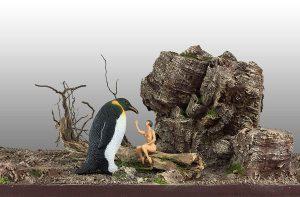 Leda y el pinguino Oscar Seco